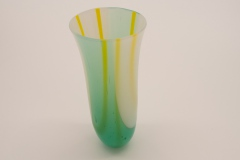 Green and Yellow Tall vase